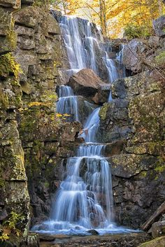 Chasm Brook Waterfalls, Acadia National Park, Maine | nature | | amazingnature | #nature #amazingnature https://biopop.com/