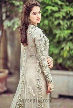 Punjabi Bride Pakistani Bridal Indian Long Prom Dresses Formal Wedding Beauty