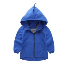 Dehutin 2017 Boys Zip Up Hooded Sweatshirts Jacket Cute Dinosaur Waterproof Coat (140, Blue). High quality cotton are used and it is not easy to go shrink and deformation. There are 2 pockets on the front which is convenience for your kids to hold important things. The lining is made from cotton soft and very skin-friendly to wear. It is suitable for Spring and Summer daily wear, and it can be wear in rainy day,it will keep your baby from the rain. 5 sizes (100/110/120/130/140) are…
