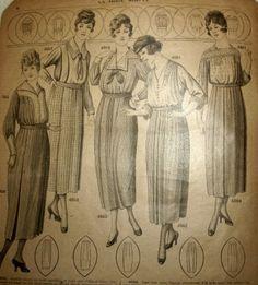 French Fashion Catalogue ca 1915-1920.... www.history-props.de : historische und indianische Dekorationen für Film, Show und Event