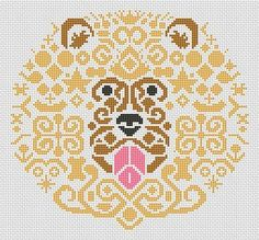 Tribal Lion 2 Cross Stitch Chart - White Willow Stitching Cross Stitch - (Powered by CubeCart)