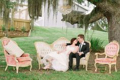 Southern Florida Wedding Inspiration at Up the Creek Farms with Crystal and Crates Vintage Rentals - Florida