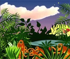 Jungle interactive -Build your own Rousseau jungle at www.nga.gov/kids/zone/jungle.htm#