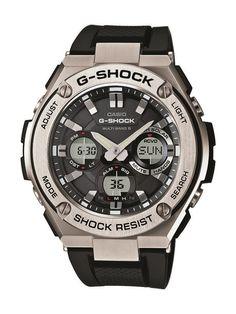 Casio G-Shock GST-W110-1AER férfi karóra. A karóra elképesztő külsőt kapott, mely sportos megjelenést kölcsönöz. Kényelmes viselet a műanyag szíjnak köszönhetően. Az óra egy beépített napkollektor segítségével generál energiát, így nincs szüksége hagyományos elemre és elemcserére sem. KATTINTS IDE!