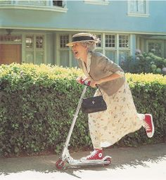 I'm going to be this old lady someday.