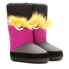Fendi Embellished Snow Boots (31,830 DOP) ❤ liked on Polyvore featuring multicoloured and shoes