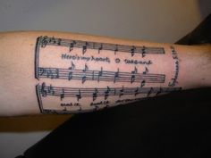 """Crazy! Some tattooed """"Come thou fount"""" on their arm!"""