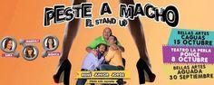 """No te peirdas el espectáculo estilo """"stand-up"""" solo para adultos """"Peste a Macho"""". Presentándose el 8 de octubre en el teatro La Perla en Ponce. Boletos + Info en Ticket Center bit.ly/PesteAMachoPonce"""