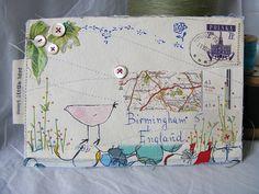 Collaged envelope