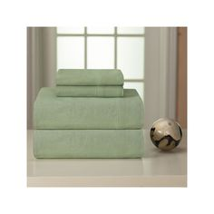 Pointehaven Flannel Sheets, Green Twin Xl