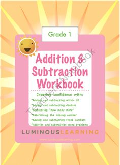 Grade 1 Addition and Subtraction Workbook: Making Math Visual product from Luminous Learning on TeachersNotebook.com