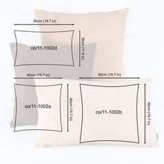 What size pillow insert you need for your pillow cover, decorative pillows Sewing Pillows, Diy Pillows, Decorative Pillows, Cushions, Throw Pillows, Fall Living Room, Cheap Carpet Runners, Sewing Techniques, Pillow Covers