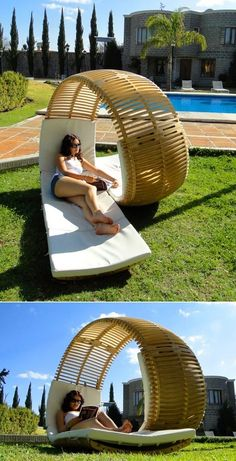 In this poolside lounger. | Community Post: 44 Amazing Places You Wish You Could Nap Right Now