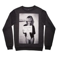 Fab.com   Kissing Cool Sweatshirt Charcoal
