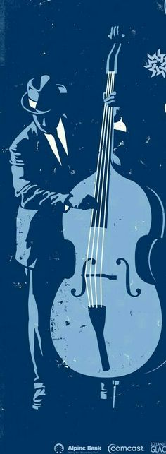 I think this is a Linocut of an unusual subject matter for printing, the Double Bass!
