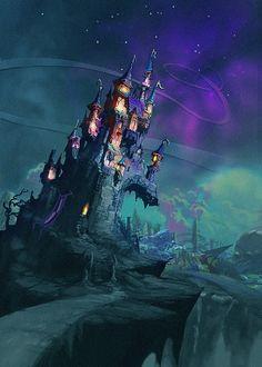Epic Mickey Picture  (2d, fantasy, concept art, disney, game art, castle)