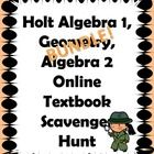 3 in 1 BUNDLE!  This activity helps students and parents understand what resources are available when they log into the Holt Algebra 1, Geometry, &...