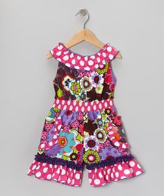 Take a look at this Pink Funky Flowers Beth Romper - Infant, Toddler & Girls by Sage & Lilly on #zulily today!