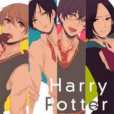 Harry Potter, Severus Snape, James Potter, Sirius Black, Remus Lupin