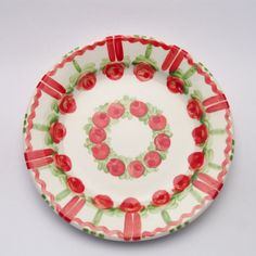 verone Plates, Tableware, Red, Green, Tablewares, Licence Plates, Dishes, Dinnerware, Griddles