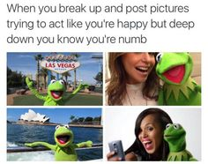 On post-breakup life: | 16 Times Kermit The Frog Was A Goddamn Gift To The Internet