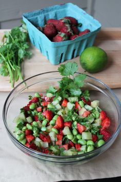 Simple Edamame Summer Salad | Britt's Blurbs