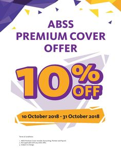 ABSS Premium Support ensures that you have the latest and up-to-date version of your product, with the assurance of priority technical support.  Get 10% off when you purchase Premium Support in October 2018