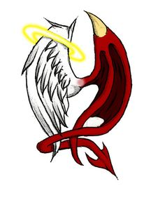 Angel vs. Demon by XxBlood-PuppetxX on DeviantArt