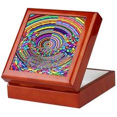 Psychedelic Trip Keepsake Box on CafePress.com