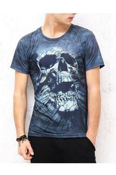 Gothic Skull Printed T-shirt