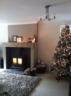 Living Room Idea with Log Burners Lovely Interesting and Stylish Woodburning Fireplace Setup Mocha Living Room, Beige Living Rooms, Small Living Rooms, My Living Room, Living Room Decor, Christmas Interiors, Christmas Home, Cosy Christmas, Decorating Small Spaces