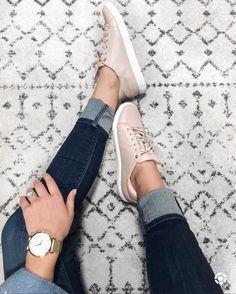 Blush sneakers @karlierae
