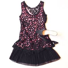 ONE HOUR SALEBETSEY JOHNSON lace dress Playful, soft and cool. Classic Betsey Johnson. Size tag is missing but by the measurements it's a small. Pit to pit - appx 15, waist appx 14, length from the shoulder appx 28 Betsey Johnson Dresses