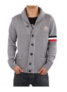 Moncler Men's Wool Sweater Grey