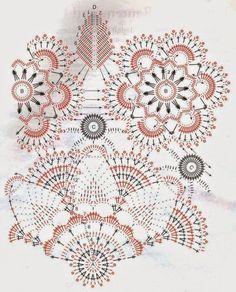 Patrón de Carpeta floral muy delicada tejida con crochet | Crochet y Dos agujas