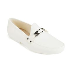 Vivienne Westwood MAN Men's Safety Pin Moccasin Shoes - Pure White: Image 41