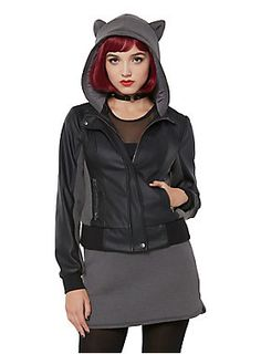 The purrrrfect jacket // DC Comics DCTV Gotham Selina Kyle Girls Faux Leather Jacket