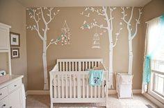 quarto de bebê café e azul