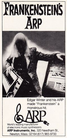 How cool! Neat ad, didn't know the arp was used for the Frankenstein score. Love these vintage synth ads! - Liza ....Voices Of East Anglia: The Natural Choice - ARP Synthesizer