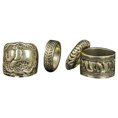 Oxidized Bronze Ring Set ($9.90) ❤ liked on Polyvore featuring jewelry, rings, oxidized ring, bronze jewelry, bronze ring, oxidized jewelry and set rings