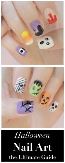 #Halloween nail art