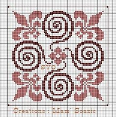 ideas for embroidery patterns geometric pillows Biscornu Cross Stitch, Cross Stitch Borders, Cross Stitch Charts, Cross Stitch Designs, Cross Stitching, Cross Stitch Embroidery, Embroidery Patterns, Cross Stitch Patterns, Blackwork