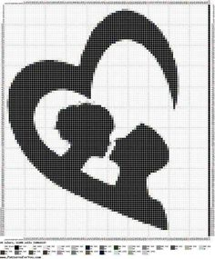 Couple within Heart Silhouette