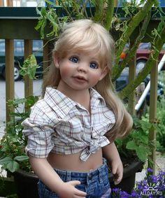 Terrific 29 Toddler Child Doll Light Brown Hair Blue Eyes Ashton Drake Hairstyles For Women Draintrainus