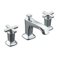KOHLER Margaux Polished Chrome Widespread WaterSense Bathroom Sink Faucet with Drain at Lowe's. Redefine traditional styling with this Margaux bathroom sink faucet, which features a strong modern design that commands attention. This bath sink faucet Kohler Faucet, Widespread Bathroom Faucet, Lavatory Faucet, Bathroom Sink Faucets, Bathrooms, Fluid Design, Polished Chrome, Plumbing, Master Bathroom