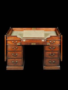 Unusual Mahogany Desk Attributed to Thomas Chippendale  English, c. 1760
