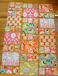 Just got in the Honey Dew sashing from Sew, Mama, Sew sale.  Pattern is Boho Girl from McCalls Quilting mag