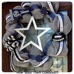 Dallas Cowboys deco mesh wreath.