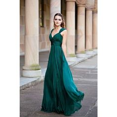Emerald green bridesmaid dresses ❤ liked on Polyvore featuring dresses, emerald green long dress, long bridesmaid dresses, emerald green cocktail dress, formal cocktail dresses and emerald green formal dress