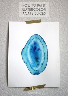 This looks beautiful! How to Paint Watercolor Agate Slices #DIY #getcreative